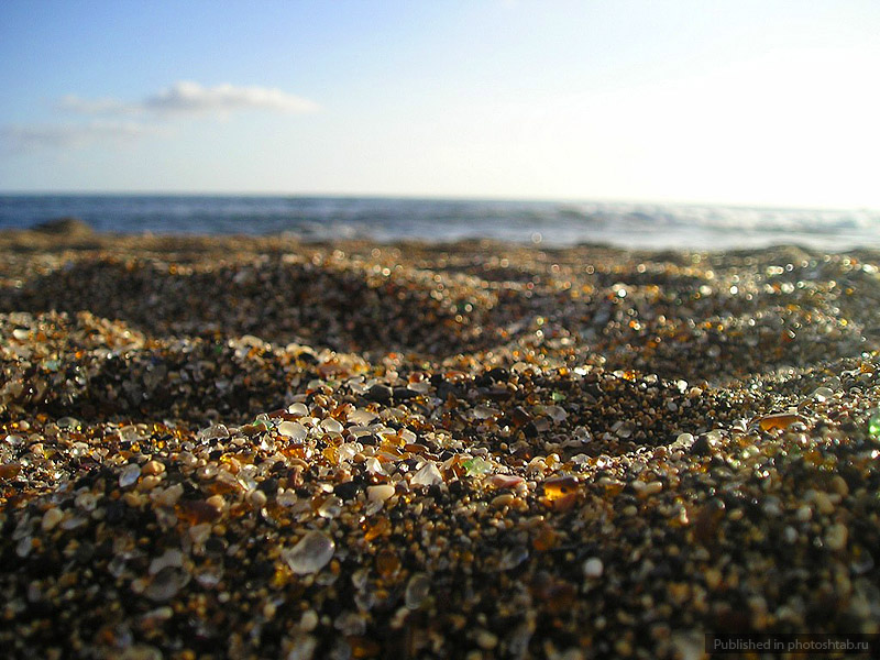 Стеклянный пляж Форт Брэгг, Glass Beach, Калифорния США