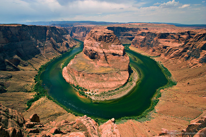 Horseshoe Bend. Подкова в Колорадо, США